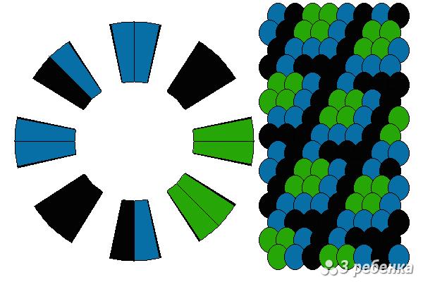Схема фенечки кумихимо 22443