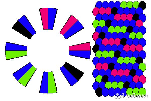 Схема фенечки кумихимо 22439