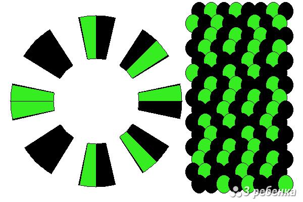Схема фенечки кумихимо 22435