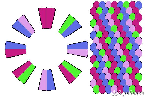 Схема фенечки кумихимо 22431