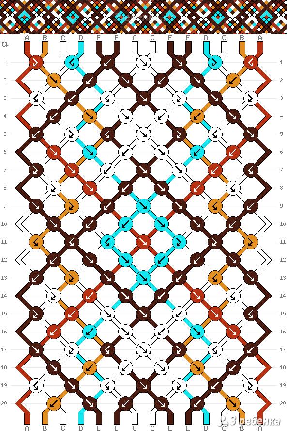 Фенечки схемы косого плетения