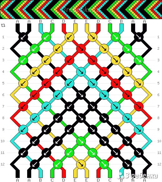 Схема фенечки 22825