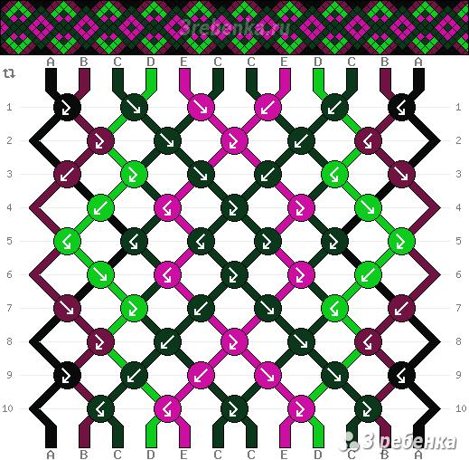 Схема фенечки 22833