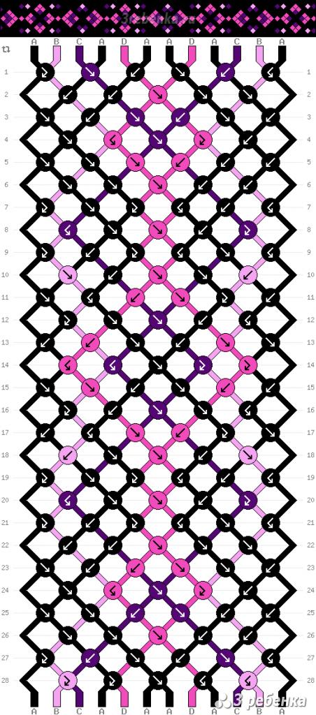 Схема фенечки 22916