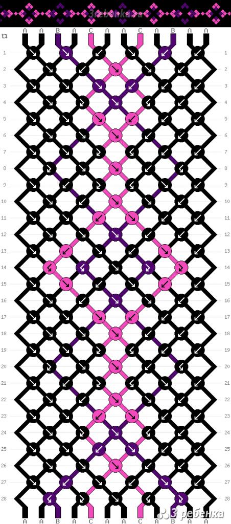 Схема фенечки 22924
