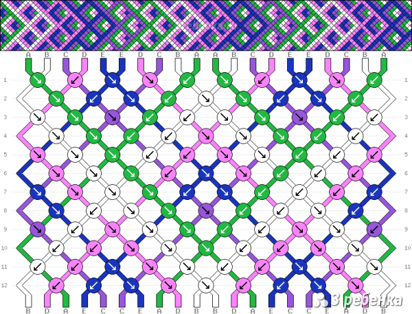 Схема фенечки 22928