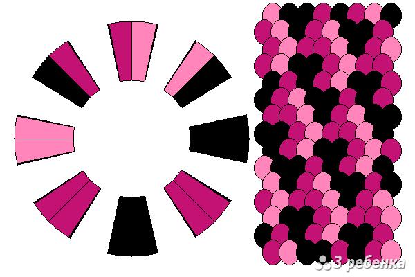 Схема фенечки кумихимо 22423