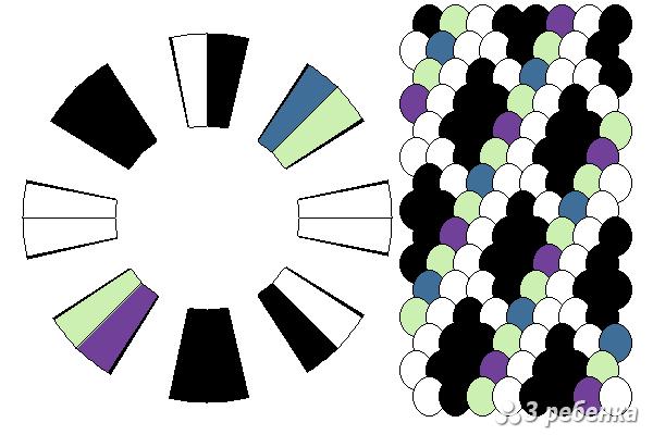 Схема фенечки кумихимо 22415