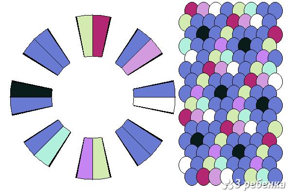 Схема фенечки кумихимо 22411