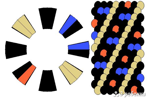 Схема фенечки кумихимо 22407