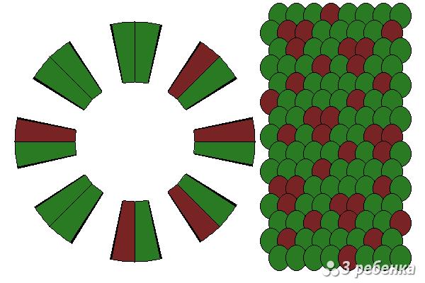 Схема фенечки кумихимо 22399