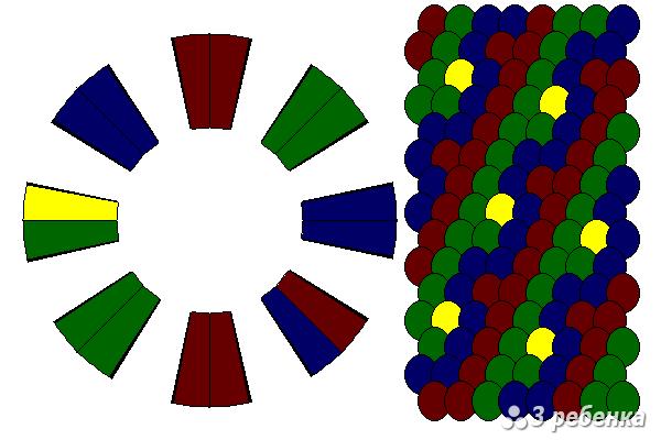 Схема фенечки кумихимо 22395