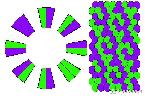 Схема фенечки кумихимо 22391