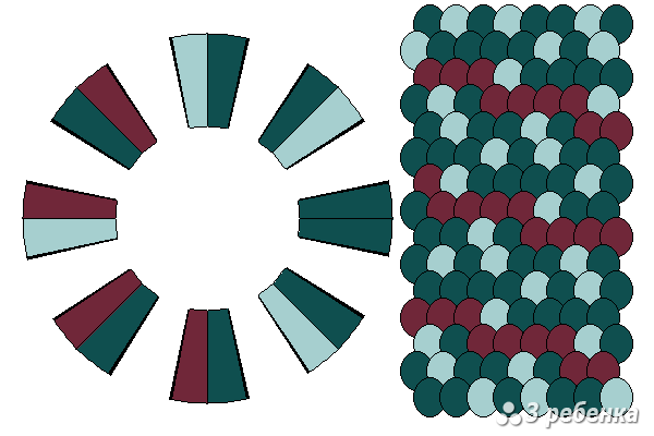 Схема фенечки кумихимо 22387