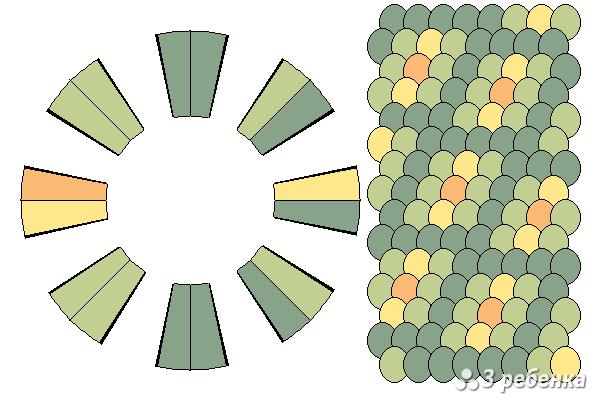 Схема фенечки кумихимо 22379
