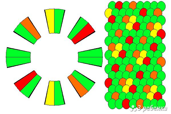 Схема фенечки кумихимо 22375