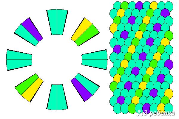 Схема фенечки кумихимо 22371
