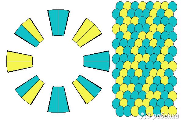 Схема фенечки кумихимо 22367