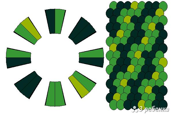Схема фенечки кумихимо 22359