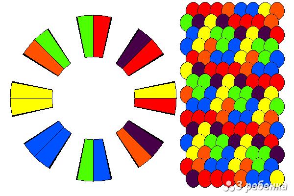 Схема фенечки кумихимо 22355
