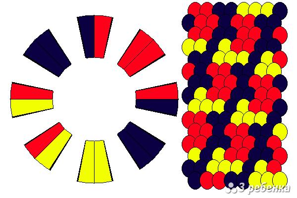 Схема фенечки кумихимо 22351