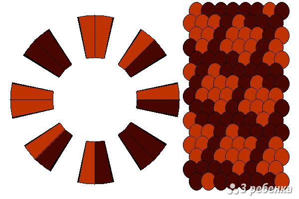 Схема фенечки кумихимо 22343