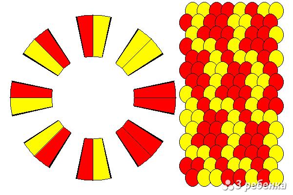 Схема фенечки кумихимо 22339