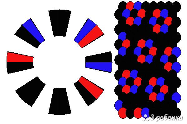 Схема фенечки кумихимо 22330