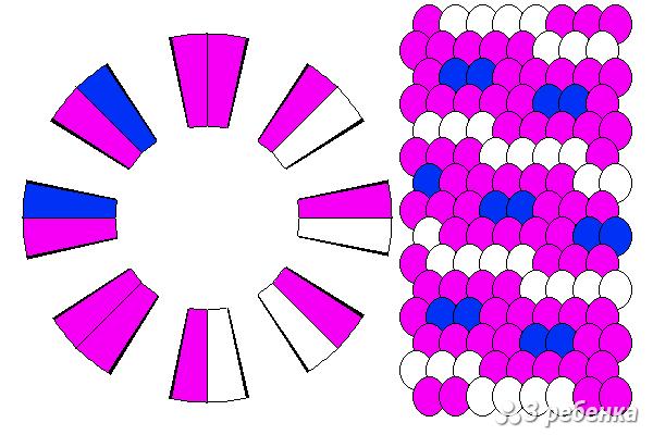 Схема фенечки кумихимо 22326