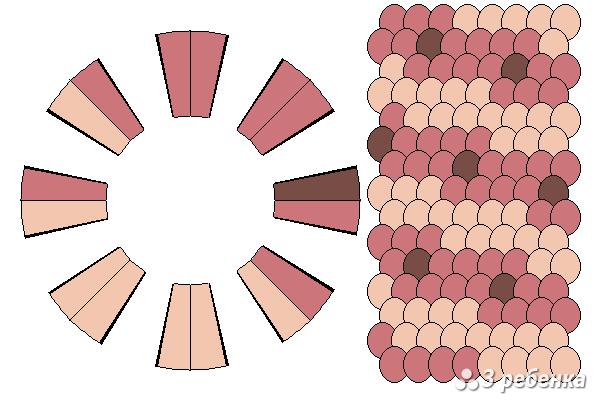 Схема фенечки кумихимо 22322