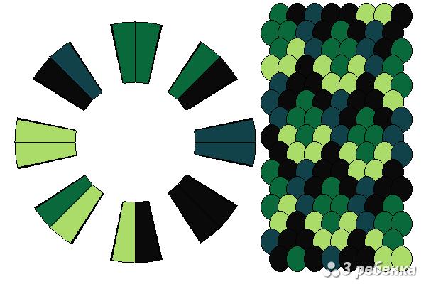 Схема фенечки кумихимо 22318