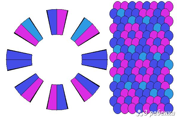 Схема фенечки кумихимо 22314