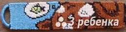 Схема фенечки прямым плетением 22459