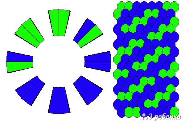 Схема фенечки кумихимо 22302