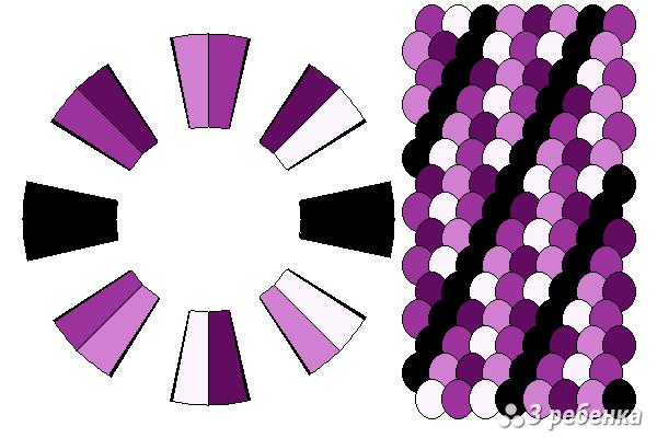 Схема фенечки кумихимо 22298