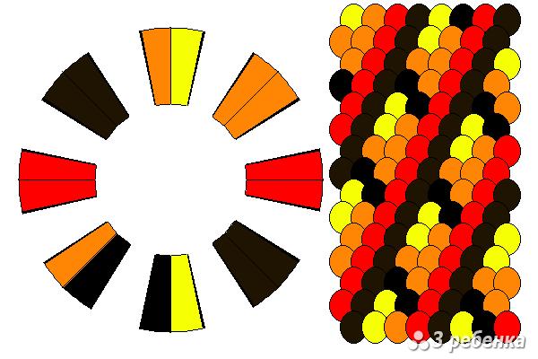Схема фенечки кумихимо 22282