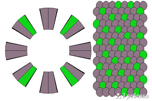 Схема фенечки кумихимо 22278