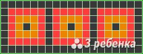 Схема фенечки прямым плетением 22511