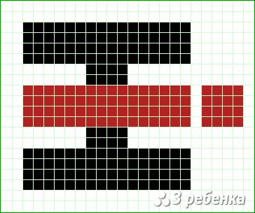 Схема фенечки прямым плетением 22546