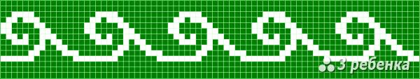 Схема фенечки прямым плетением 22658