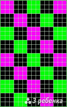 Схема фенечки прямым плетением 22713