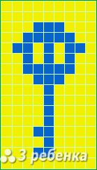 Схема фенечки прямым плетением 22643