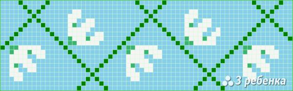 Схема фенечки прямым плетением 22531