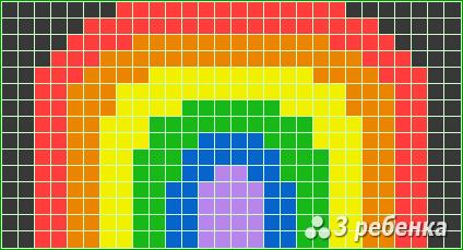 Схема фенечки прямым плетением 22496