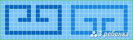 Схема фенечки прямым плетением 22728