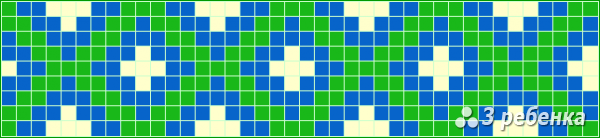 Схема фенечки прямым плетением 22506