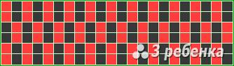Схема фенечки прямым плетением 22501