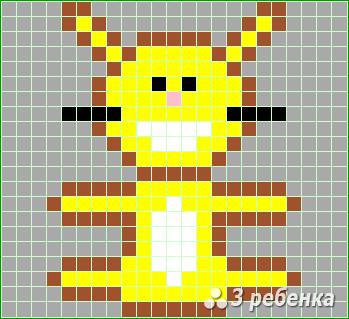 Схема фенечки прямым плетением 22678