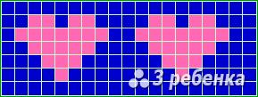 Схема фенечки прямым плетением 22541
