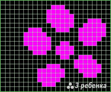 Схема фенечки прямым плетением 22668